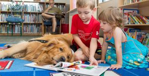 Dogs in the Library? Yes! And One of Them is a Regular Friday Volunteer