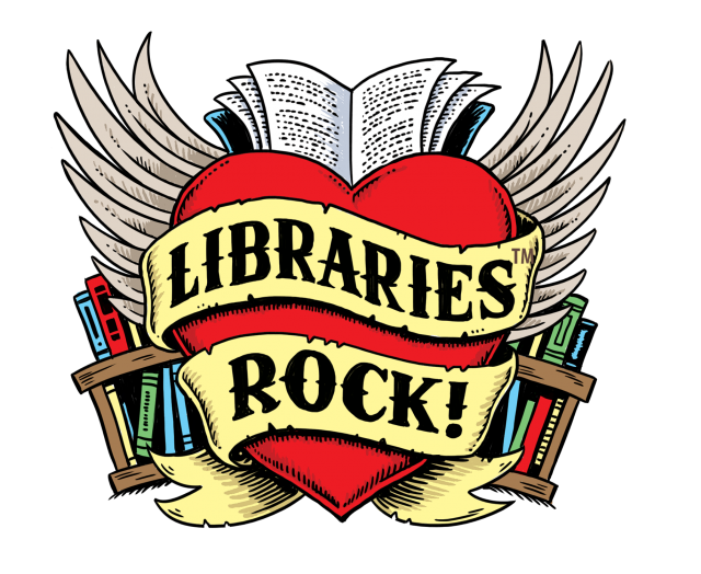 Libraries Rock because library books are free to borrow