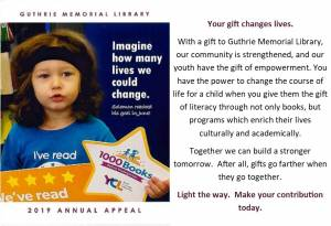 2019 Guthrie Memorial Library Annual Appeal