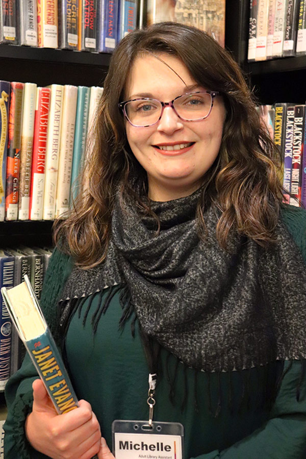 staff headshot of Michelle from guthrie memorial library