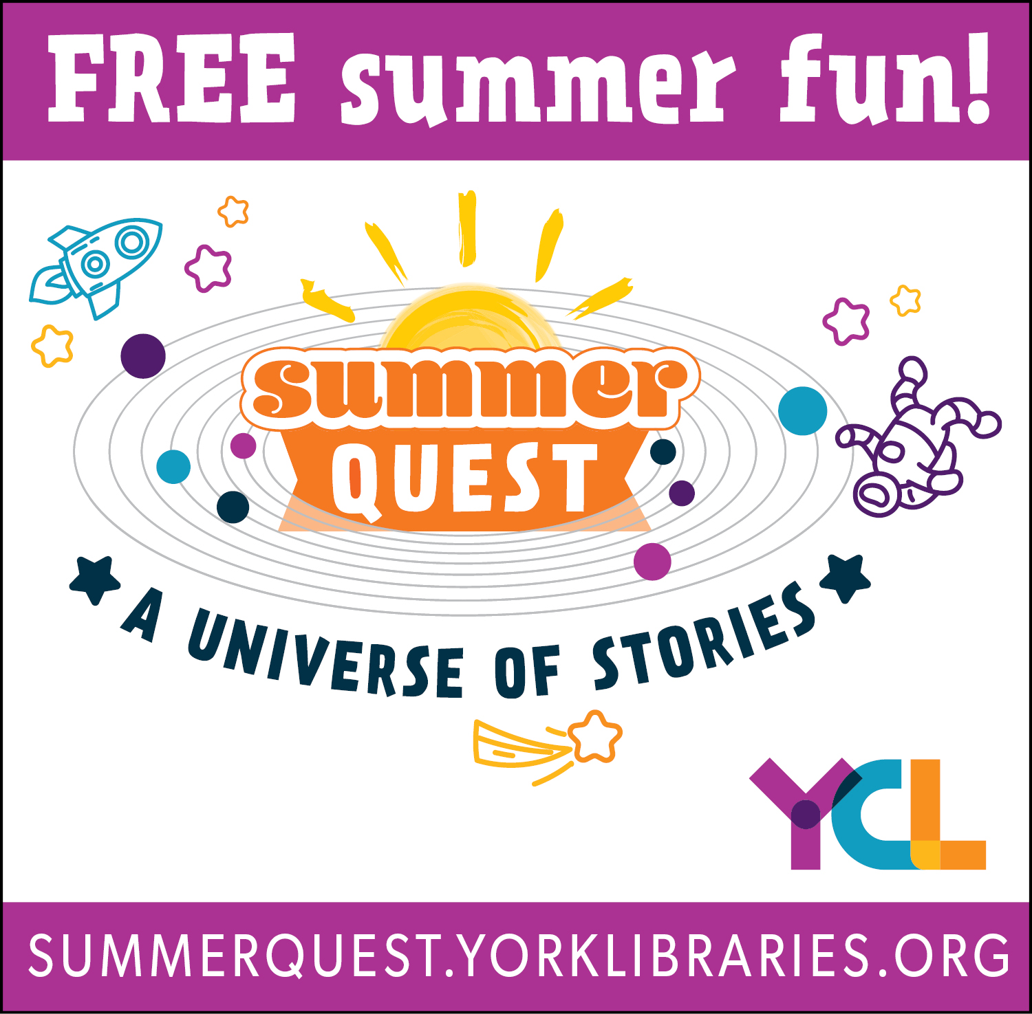 SummerQuest York County LIbraries logo