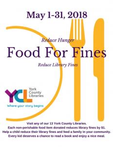 Food for Fines Program at Kreutz Creek Library