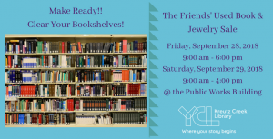 The FRIENDS' Fall Used Book and Jewelry Sale