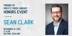Friends of Kreutz Creek Library to Honor Sean Clark