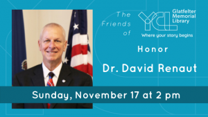 Glatfelter Memorial Library Honors Dr. David Renaut on N