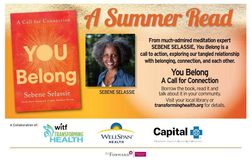 Summer Read program. Sponsored by WITF, WellSpan Health, and Capital Blue Cross. A PA Forwar Health Literacy Initiative.