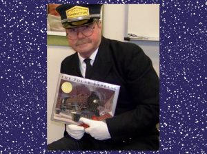 The Conductor reads The Polar Express