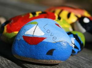 collage your own kindness rock