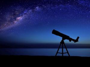 Telescope aimed at the Milky Way