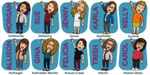 this image displays our youth services staff in bitmoji form